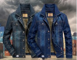 Mesh Fiber Australia - excellent New European Denim Jacket Men Casual Cowboy Jeans Coat Men Single Breasted Mesh Liner Outwear Plus