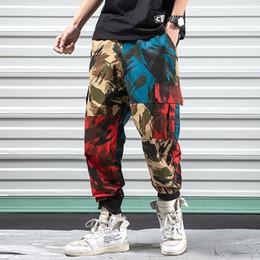 Camouflage Cotton Australia - good quality Men's Camouflage Splice Joggers Men Cotton Pants Cargo Pant Trousers Elastic Waist Harem Pant Men