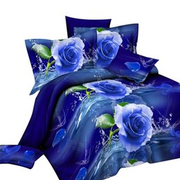 rose print bedding Australia - New 2Pcs Rose Printed Pillow Case Cushion Cover with Bed Sheet Bedclothes Set Decor
