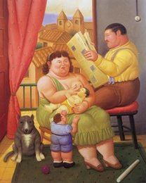 Discount classical couple paintings - Fernando Botero fat Couple on canvas Home Decor Handcrafts  HD Print Oil Painting On Canvas Wall Art Canvas Pictures 200