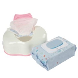 wet wipes box 2019 - Portable Household Dry Wet Tissue Paper Case Baby Wipes Napkin Storage Box Plastic Holder Container cheap wet wipes box