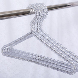 Clothes Racking NZ - Acrylic Beads Hanger Women Clothing Skirts Dress Display Lady Clothes Crystal Hangers Clothing Skirts Dress Display rack KKA6927