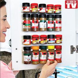 Kitchen N Australia - Clip N Store Home Kitchen Organizer Stick Spice Rack Storage Gripper Holder Kitchen Gadgets Cooking Tools 4PCS SET 20 Cabinet VT0006