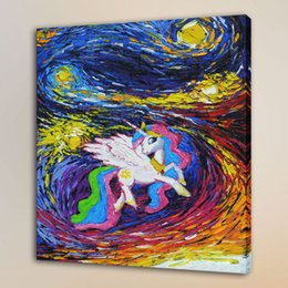 $enCountryForm.capitalKeyWord Australia - Van Gogh Little Pony Living,HD Canvas Print Home Decor Art Painting Unframed Framed