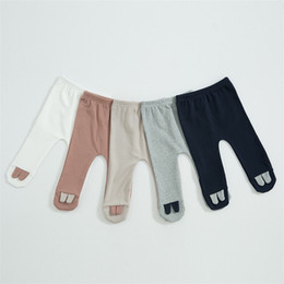 $enCountryForm.capitalKeyWord Australia - INS Toddler Girls Leggings Spring Autumn Blank Knit Cotton Cat Ears Designs Newborn Tights Newest Quality Kids Girls Pants