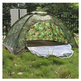 $enCountryForm.capitalKeyWord Australia - Wholesale-Multiplayer Folding Tent Waterproof Four Seasons Fiberglass For Outdoor Camping Camouflage Hiking