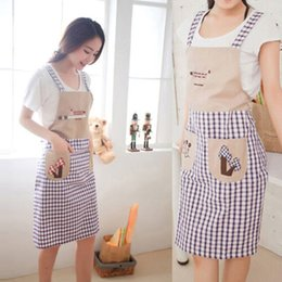 $enCountryForm.capitalKeyWord NZ - Kitchen Cooking Apron Korean Version Women Apron Cute Double Shoulder Strap Oil-proof For Home Cleaning Overalls Pocket