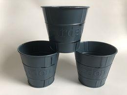 $enCountryForm.capitalKeyWord Australia - D11.5xH10.5CM Dark Grey Iron Planter Rustic Home Decor flower pots Metal planters Farmhouse antique Tubs