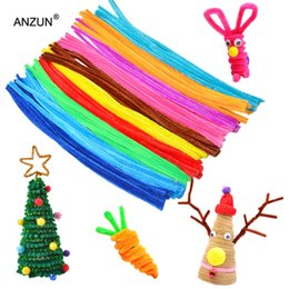 pipes stems Australia - 100pcs 6mm X 300mm Chenille Stems Twist Wire Stems Pipe Cleaners Children Handmade Education Decorative Flowers & Wreaths