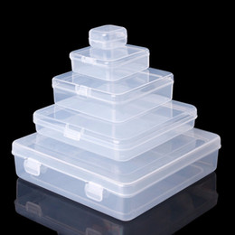 bead organizer container Australia - Square Transparent Plastic Jewelry Storage Boxes Beads Crafts Case Containers