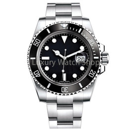 Wholesale Luxury Mens Watch Sapphire Quality Automatic Mechanical Watch LN mm Stainless Steel Watchband Ceramic Watch Ring Waterproof watches