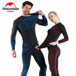 outdoor thermal underwear NZ - Naturehike Quick-drying underwear suits for men and women skiing outdoor function wicking thermal underwear