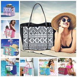 $enCountryForm.capitalKeyWord Australia - 8styles DIY Neoprene women beach bag cartoon printed Tote bags handbags women party bags lady summer swimming tote FFA2372