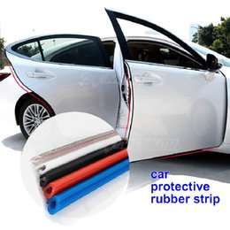 Car door edge proteCtors online shopping - Car Door Protection Strips Rubber Edge Doors Moldings Side Protector Sticker Scratches Vehicle For Cars Auto Car styling