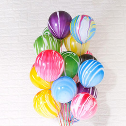 home birthday supplies Australia - 7styles 10inch Colorful Agate Balloon Printed Cloud Ball Wedding Party Bar KTV Home Birthday Decor Supplies props 100PCS lot FFA2828-1