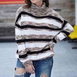 $enCountryForm.capitalKeyWord Australia - 2019 Female Women Ladies Winter Sweater Clothing Loose Ombre Striped Turtleneck Sweater Knitwear Ulzzang Pullover Knit Jumper