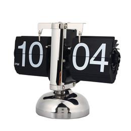 $enCountryForm.capitalKeyWord Australia - Flip Clock Retro Scale Digital Stand Auto Flip Desk Table Clock Reloj Mesa Despertador Internal Gear Operated Quartz