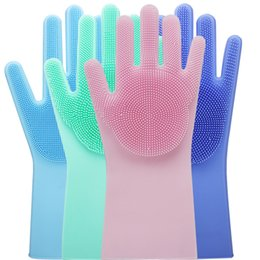 $enCountryForm.capitalKeyWord NZ - Magic Silicone Gloves Cleaning Brush Non-slip Gloves Resuable Household Scrubber Dishwashing Gloves Kitchen Bed Bathroom Tools