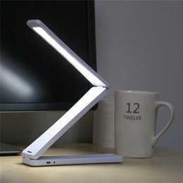 $enCountryForm.capitalKeyWord Australia - Mini 450mah Capacity Folding Led Reading Desk Table Lamp Rechargeable Adjustable Portable Bright 17 Leds Book Light Q190601