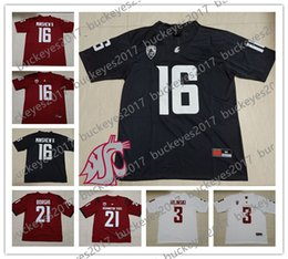 Custom Washington State Cougars Any Name Any Number White Red Gray Stitched   16 Gardner Minshew II NCAA College Football Jerseys 271756be5
