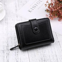 China Wallet Leather Australia - ETya 2019 Korean fashion Pu leather women wallets wallets ladies zipper short clutch wallet coin purse card holder pocket