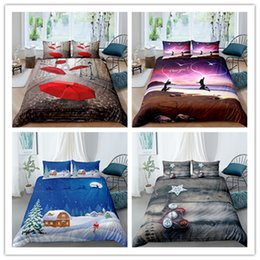 pink brown bedding for adults UK - 3D 100% Polyester Charming scenery Landscape Series Bedding Set 2 3pcs Duvet Cover Set Twin Full Queen Size Soft For Girls Boys Adult