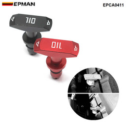 EPMAN Billet aluminium Car Oil Dipstick Pull Handle Auto Replacement Engine Oil Handle For Ford Mustang GT V8 GT500 EPCA0411 on Sale