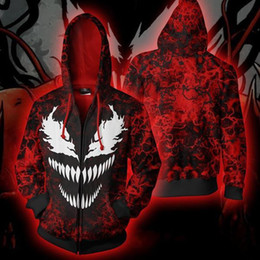 791a80de981 Venom Cosplay NZ - Foreign trade explosion Man Wei venom Spider-Man 3D  printing zipper