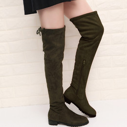 a63e7e06e Fashion Slim Boots Sexy Over The Knee High Suede Women Snow Boots Women's  Fashion Winter Thigh High Boots Shoes Woman