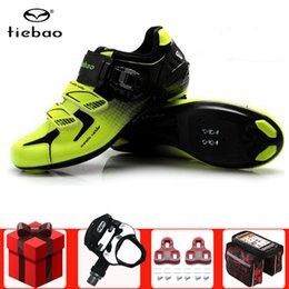 Discount spin bikes - Tiebao road cycling shoes add pedal set men sneakers lightweight bike bicicleta professional road bicycle Spinning cycle