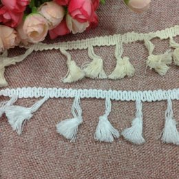 trims ribbons Australia - White Lace tassel Ribbon DIY Sew Apparel Accessories Handmade Trims Wedding birthday party Scrapbook necklace skirt dress Decoration