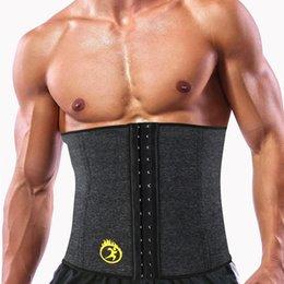 fbddd3bfb2 wholesale Hot Shaper Mens Slimming Waist Trainer Neoprene SPA Sweat Sauna  Body Modeling Strap Belt Cincher Pulling Underwear Corset