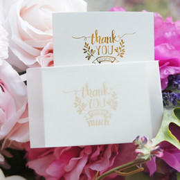 $enCountryForm.capitalKeyWord UK - multi-use 25pcs Mini thank you Card gold with transparent white envelope Scrapbooking party invitation DIY Decor gift party card