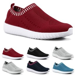 Wholesale Best selling large size women's shoes flying woven sneakers one foot breathable lightweight casual sports shoes running shoes Eight
