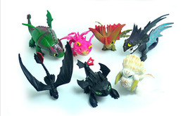 Skull Kid Figure UK - 7pcs set How To Train Your Dragon 3 PVC Figure Toys Hiccup Toothless Skull Gronckle Deadly Nadder Night Fury Dragon Figures