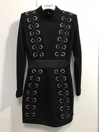 Wholesale 2019 Balmain Fashion Slim fit Womens Designer Casual Party Sexy Coat Middle collar Ladies dress beautiful Balmain clothes
