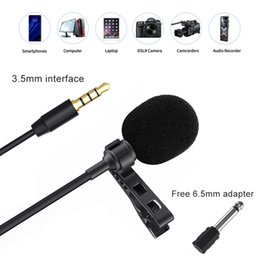 iphone camcorder UK - 3.5mm KM-D1 Audio Video Record Lavalier Lapel Microphone for iPhone Android Mac Interview Vlog Mic for DSLR Camera Camcorder Recorder