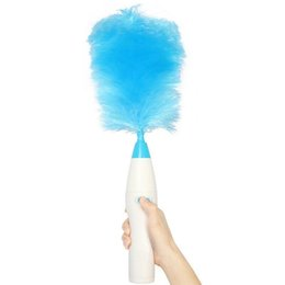 Chinese  Electrinic Hair Brush Spin Electric Hand Duster Motorized Dust Wand Removes Dust Home Clean Brush freeShipping manufacturers