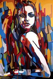$enCountryForm.capitalKeyWord Australia - Abstract Art Portrait Of A Girl,Oil Painting Reproduction High Quality Giclee Print on Canvas Modern Home Art Decor