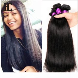 26 7a grade hair UK - Brazilian Virgin Hair Straight 4 Bundles Deal HC Hair Products 7A Grade Virgin Unprocessed Human Hair Mink Brazilian Straight
