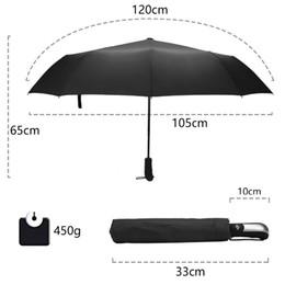 rain coat mans 2019 - Wind Resistant Folding Automatic Umbrella Rain Women Auto Luxury Big Windproof Umbrellas Rain For Men Black Coating 10K