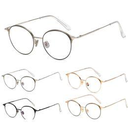 475eede1b6c Classic Glasses Frame Women Men Metal Frame Round Flat Eyeglasses Black  Silver Gold Eyeglass Myopia Optical Eyeware