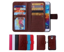 Magnets Iphone Canada - 9 cardLeather Wallet Case 2 in 1 Magnetic Magnet Detachable Removable Crazy Wallet Leather case Cover for iphone x