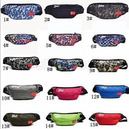 Camping paCks online shopping - 15styles Sup Waist Bag Shoulder pack letter Belt Bag Handbag Mobile phone jogging Zipper Storage Bags Wallet sport coin bags FFA1776