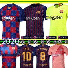 98ff65279 2019-2020 Barcelona MESSI Soccer Jerseys Suárez A.INIESTA DEMBELE COUTINHO Soccer  Shirts Barcelona football uniforms WOMEN man Kids Kits