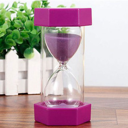 $enCountryForm.capitalKeyWord Australia - Hexagonal Desktop Ornaments Kitchen Timer Sandglass Hourglass Sand Clock 5 10 15 mins Drop Resistance Kid Gift Game Household
