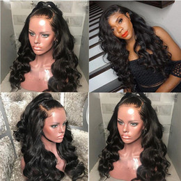 $enCountryForm.capitalKeyWord Australia - Brazilian Unprocessed Natural Wave Glueless Human hair Lace Front and Full Lace Wigs Pre-Plucked Hairline Natural Color For Black Women