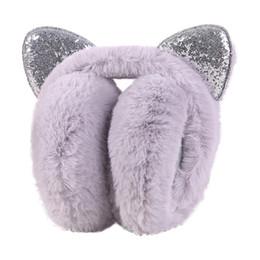 $enCountryForm.capitalKeyWord UK - new design Fashion Solid Winter Warm Women Cartoon Cat Ears Design Windproof Warm Adjustable Earmuffs hot sale
