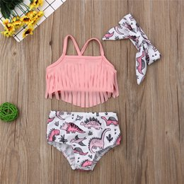Baby Girl Summer Suits Australia - 2019 Summer Bikini Toddler Kids Baby Swim Beach Hot Spring Wear Girl Fashion Pink Tassel Bikini Set Swimwear Swimsuit Bathing Suit 40