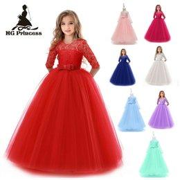 082832a4 Vestido de encaje de niña de verano de tul largo Vestido de fiesta de niña  adolescente Ropa elegante para niños Vestidos de niños para niñas Princesa  ...